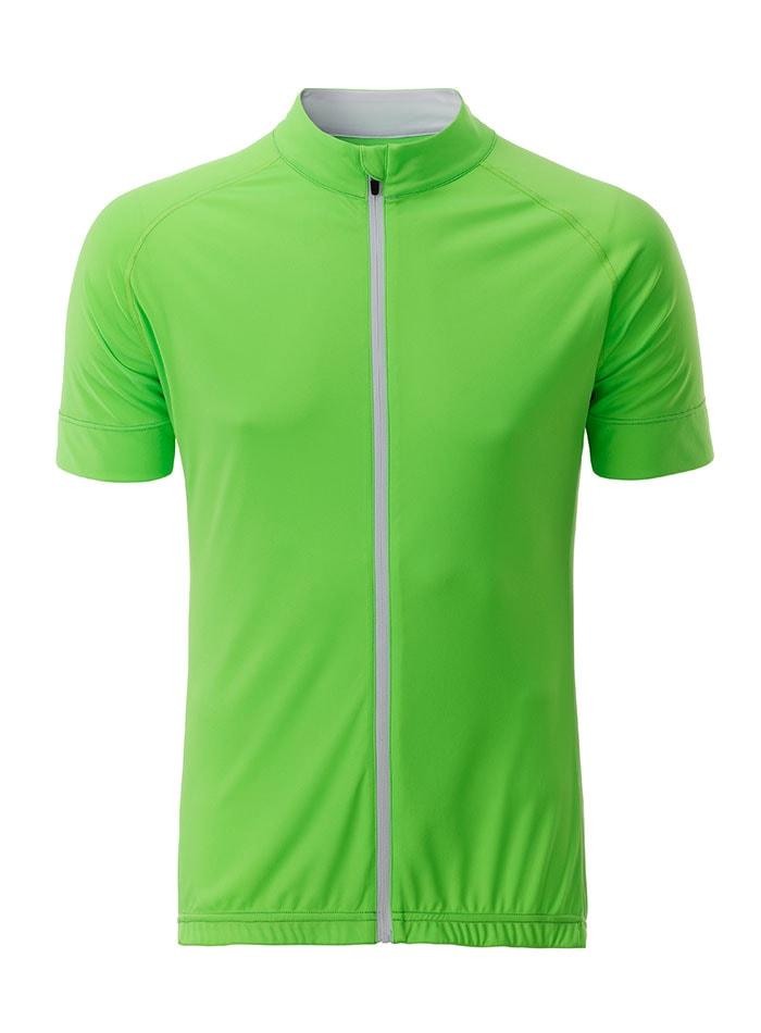 Pánský cyklodres - jablíčkově zelená M