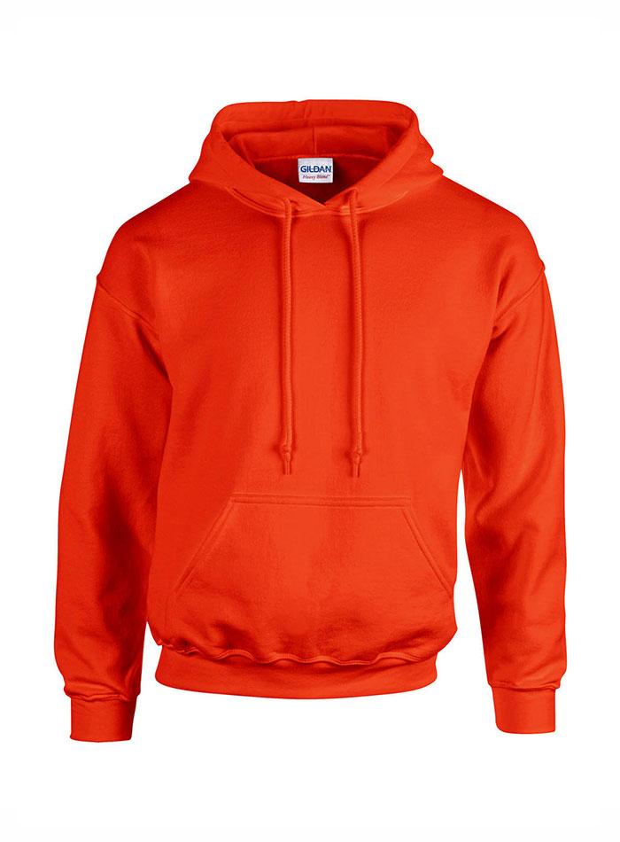 Pánská mikina s kapucí - Oranžová XXL