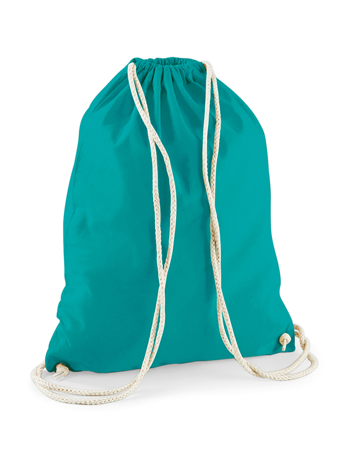Bavlněný vak na záda - smaragdová univerzal