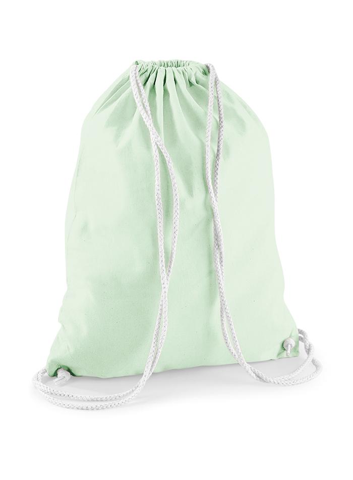 Bavlněný vak na záda - Mentolově zelená univerzal