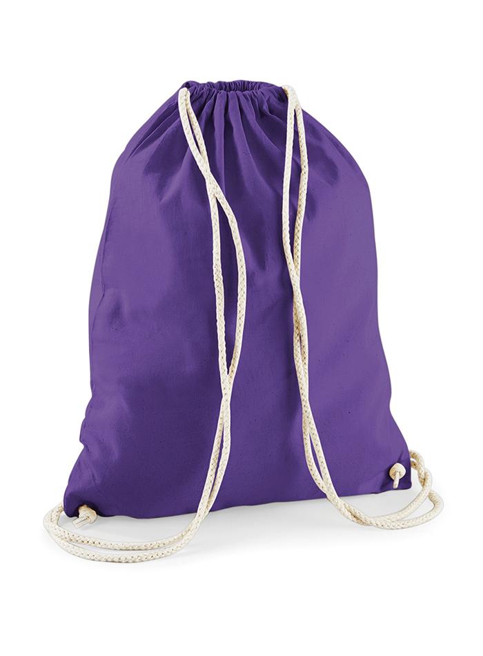 Bavlněný vak na záda - fialová univerzal