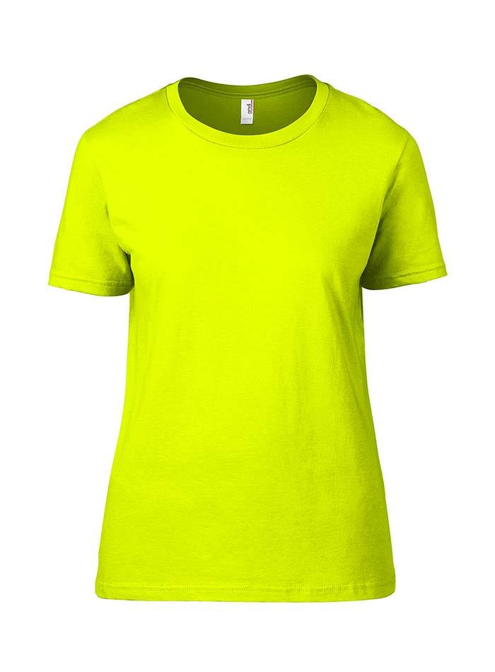 Přiléhavé tričko Fashion - Neonově žlutá M
