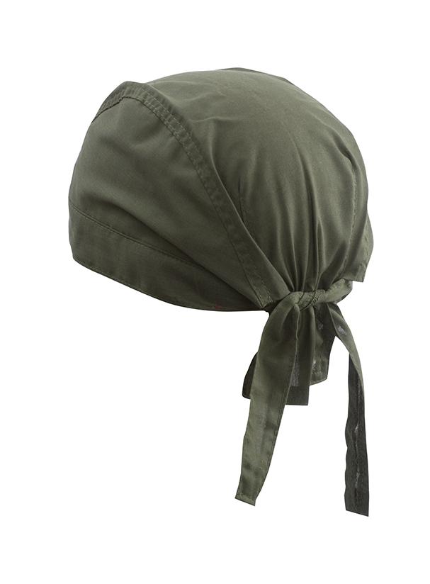 Šátek na hlavu - Olivově zelená univerzal