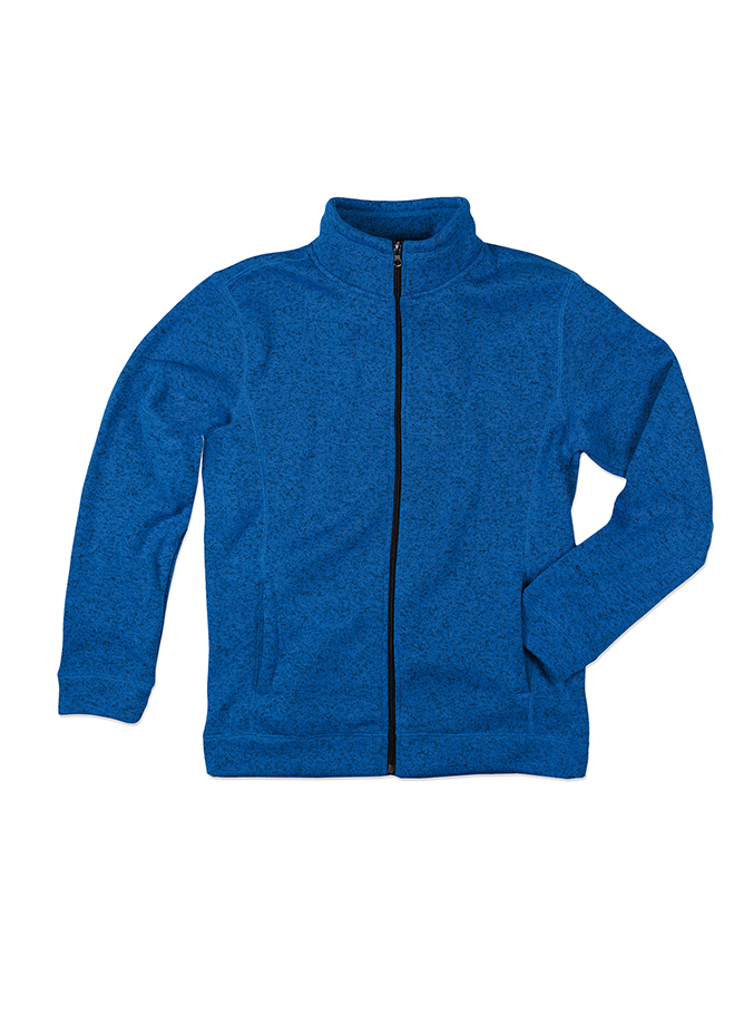 Pánská fleecová mikina Knitted - Kobaltově modrá XXL b782794ec0