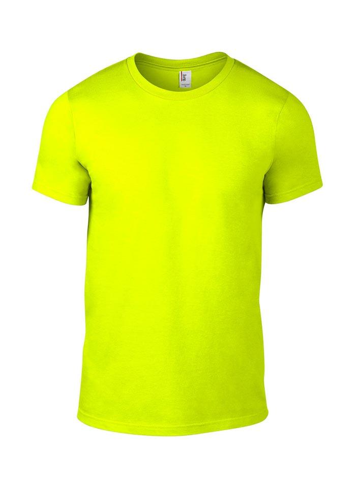 Přiléhavé tričko Fashion - Neonově žlutá S