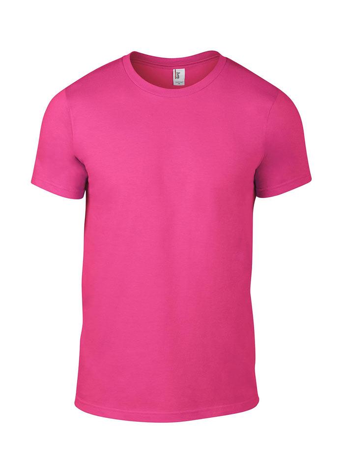 Přiléhavé tričko Fashion - Neonově růžová XL