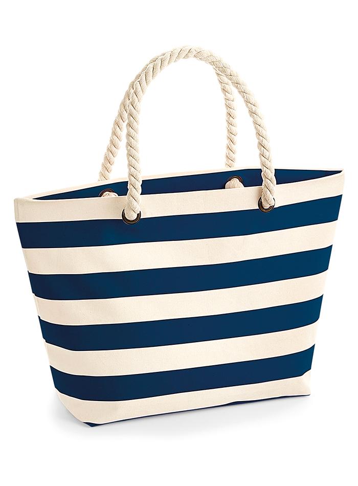 Plážová taška - Modrá a béžová univerzal