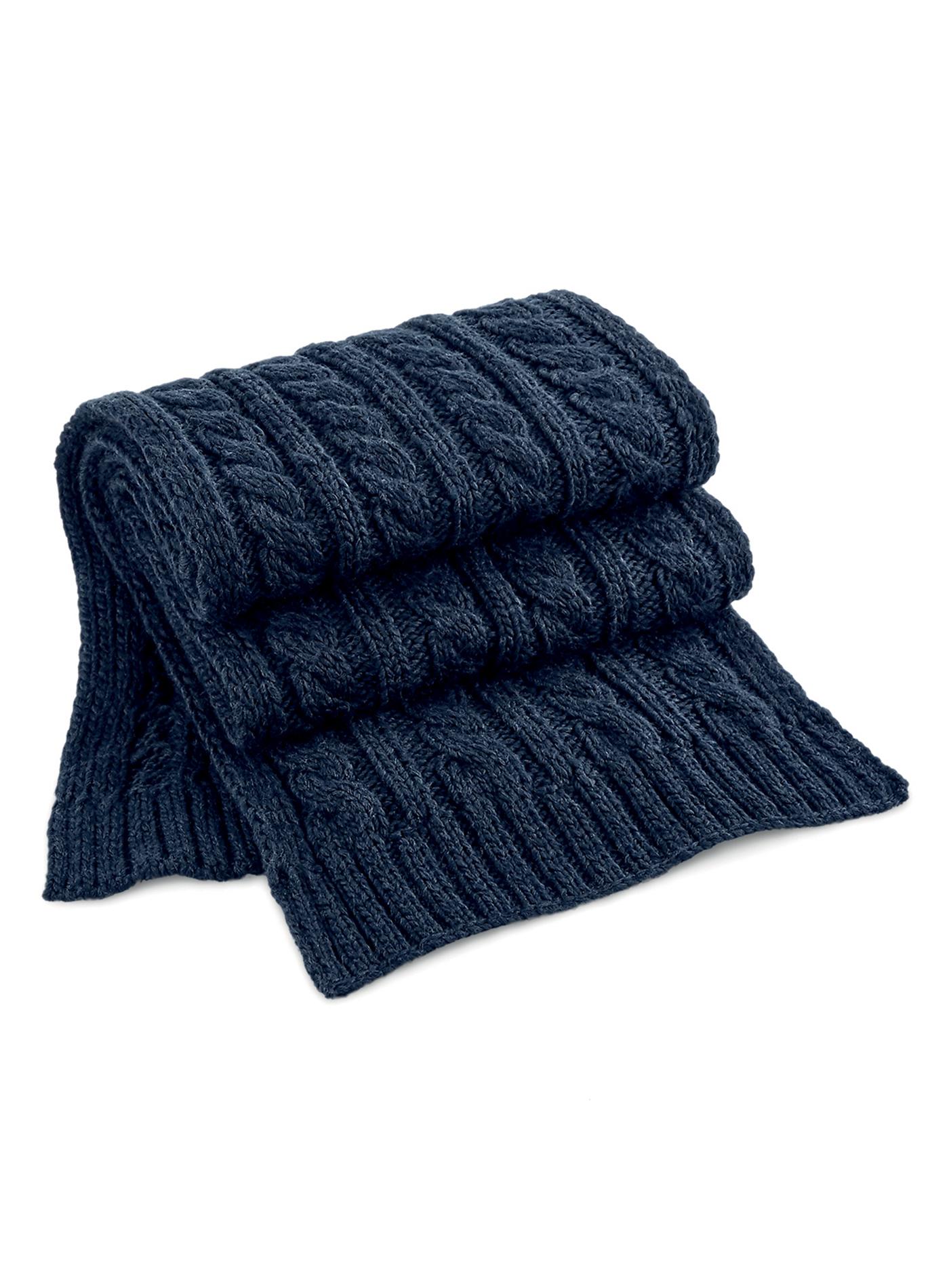 Pletená šála Melange - Modromodrá univerzal