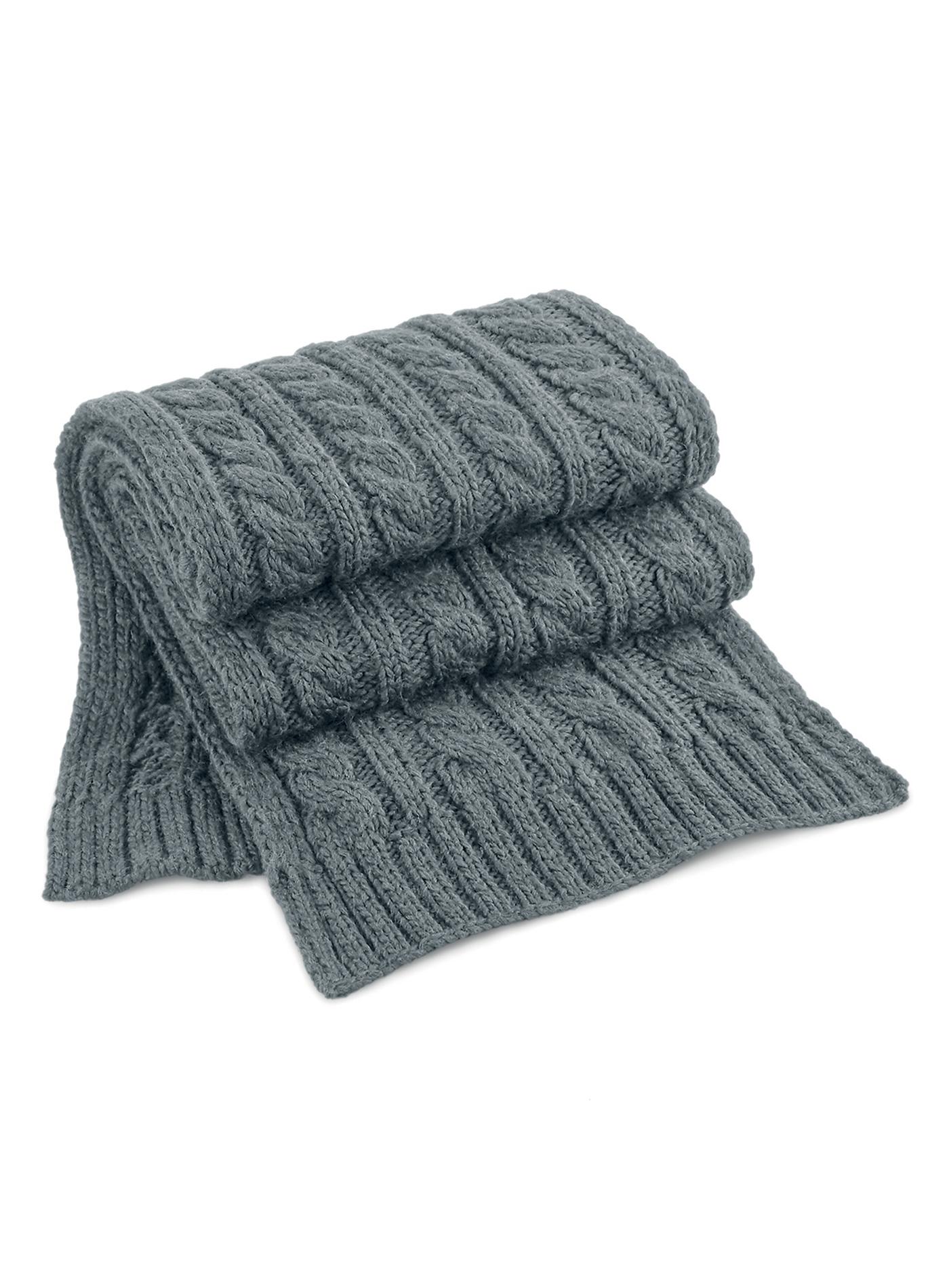 Pletená šála Melange - Světle šedá univerzal