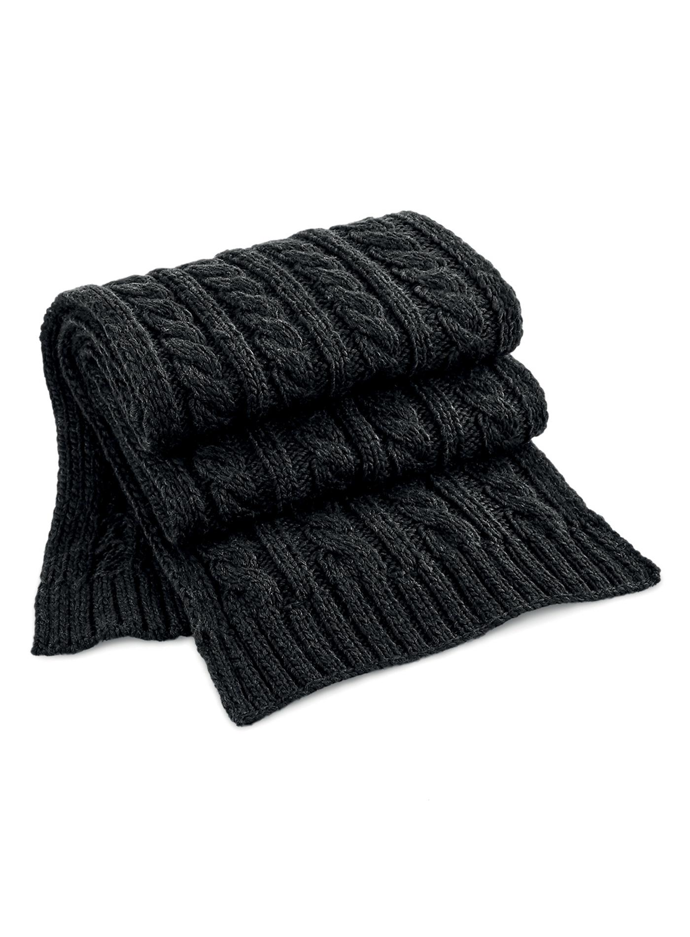 Pletená šála Melange - černá univerzal