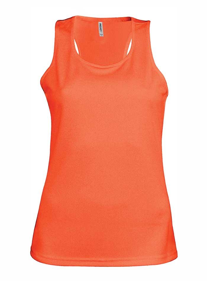 Dámské tílko Active - Zářivá oranžová M