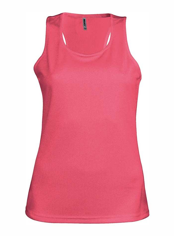 Dámské tílko Active - Zářivá růžová XL