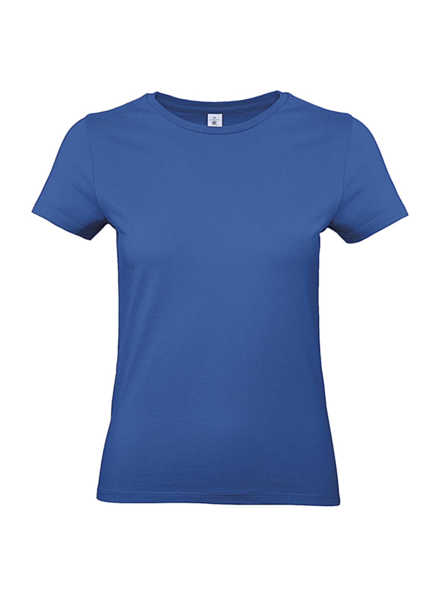 Silnější bavlněné dámské tričko - královská modrá XXL