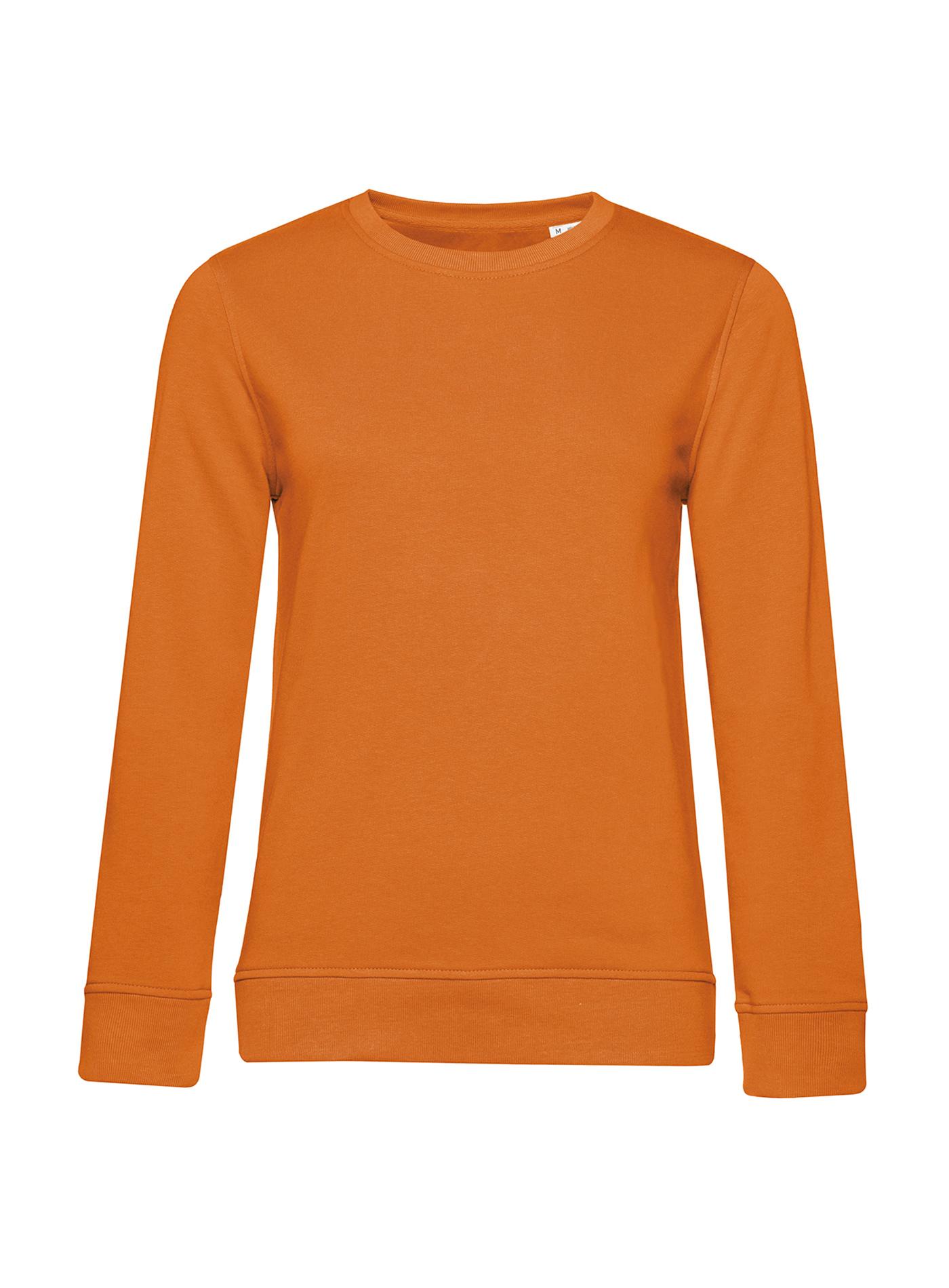 Dámská mikina Organic Crew - Oranžová XXL