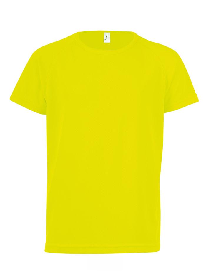 Neonové sportovní tričko - Neonově žlutá 12-14