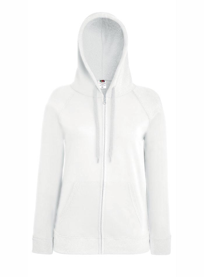 Mikina s kapucí na zip - Bílá S