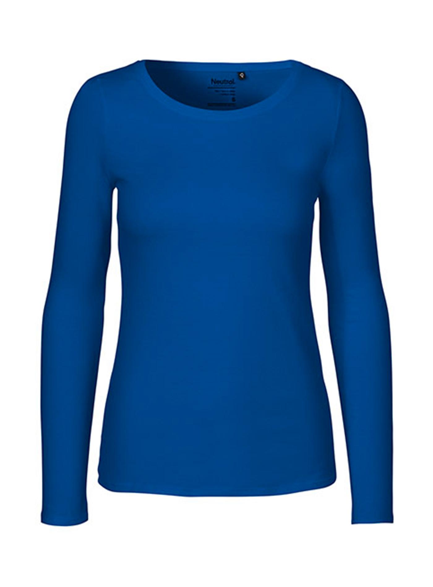 Dámské tričko s dlouhým rukávem Neutral - Královská modrá XXL