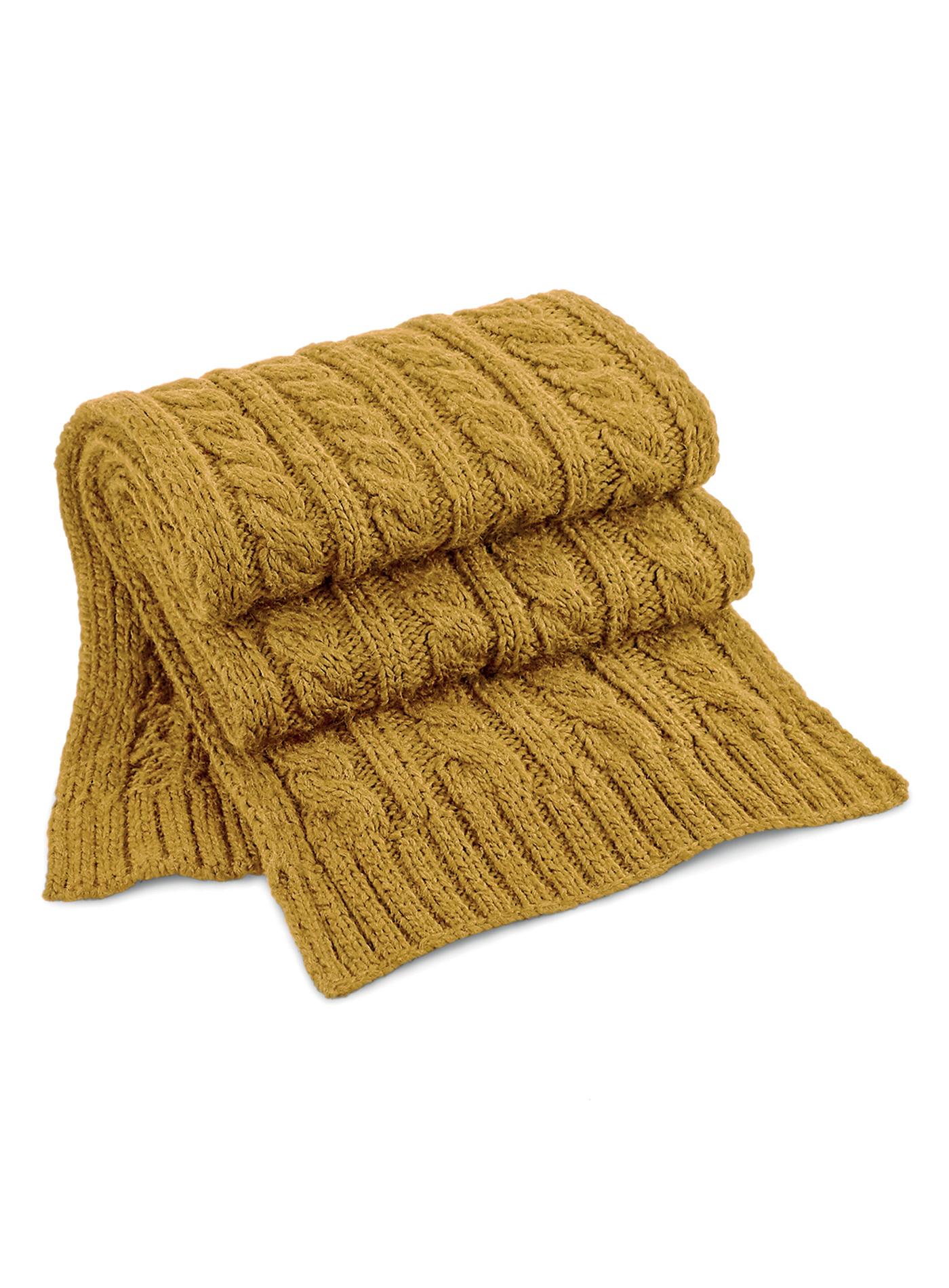 Pletená šála Melange - Hořčicově žlutá univerzal