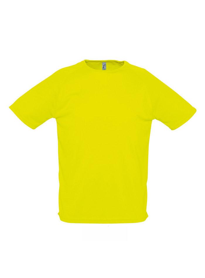 Tričko na sport - Neonově žlutá XXS