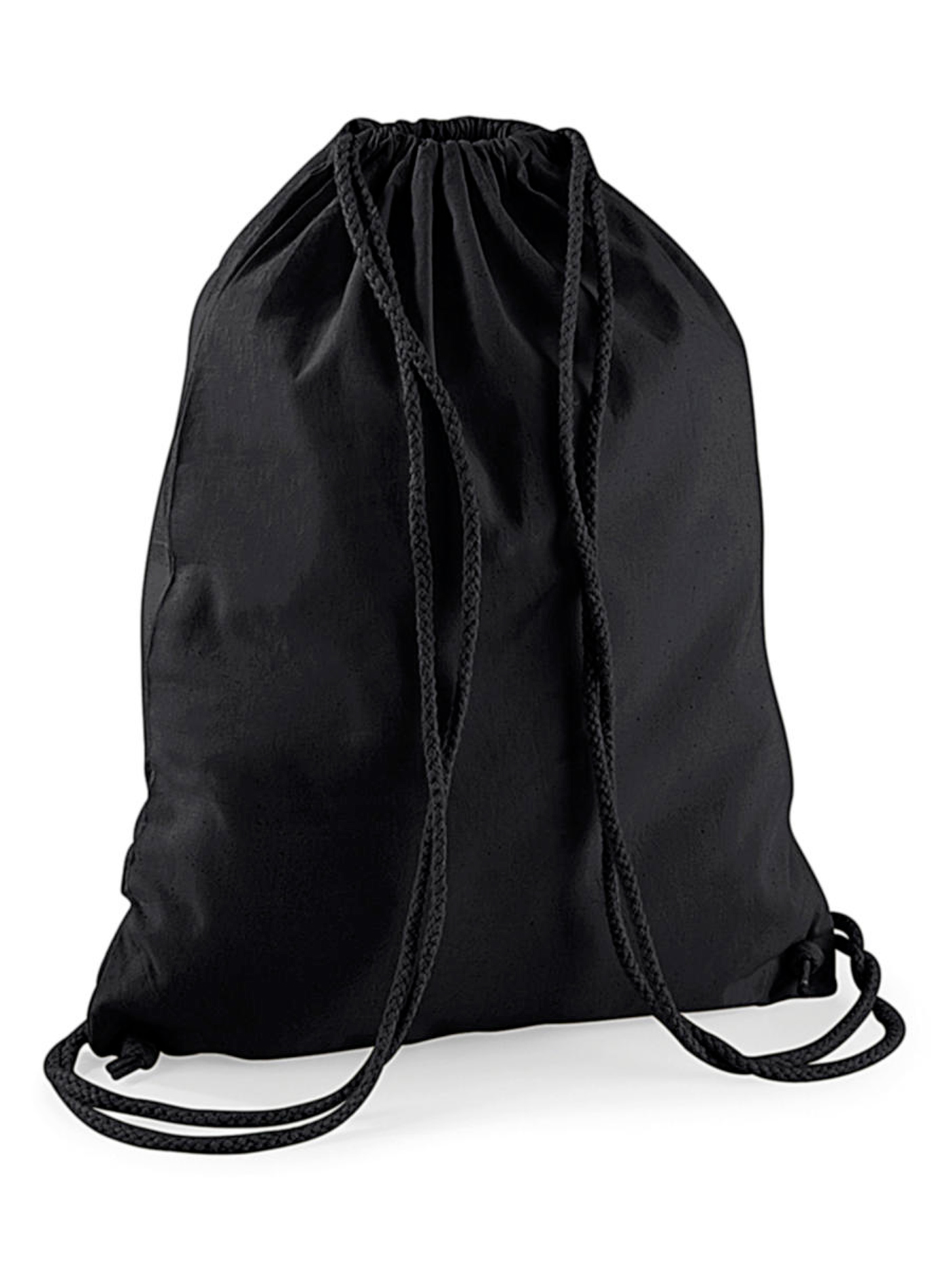 Bavlněný vak na záda - černá /černá univerzal