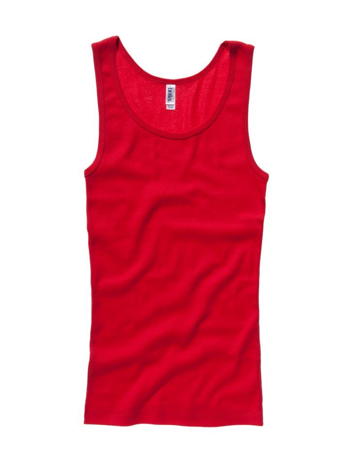 Klasické bavlněné tílko - Červená S