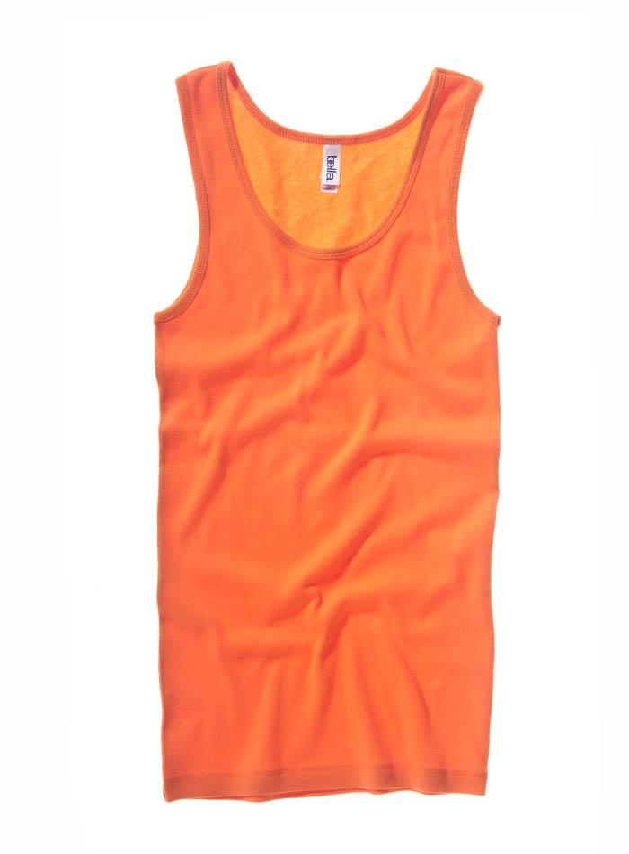 Klasické bavlněné tílko - Oranžová S