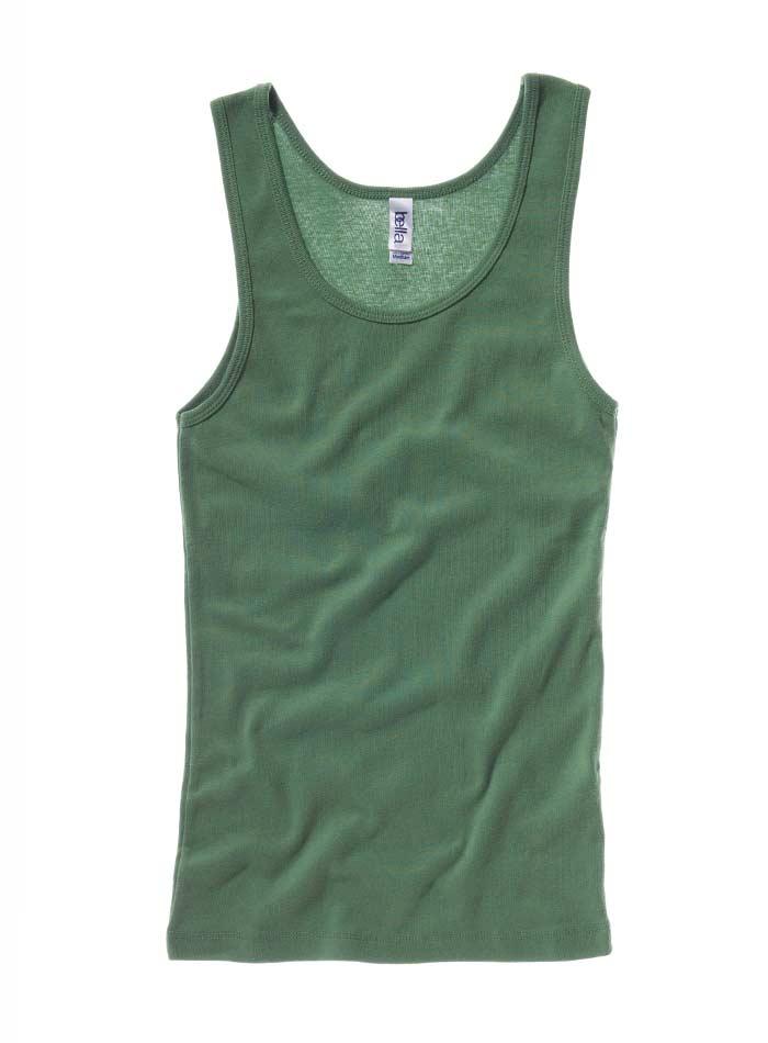 Klasické bavlněné tílko - Vojenská zelená S