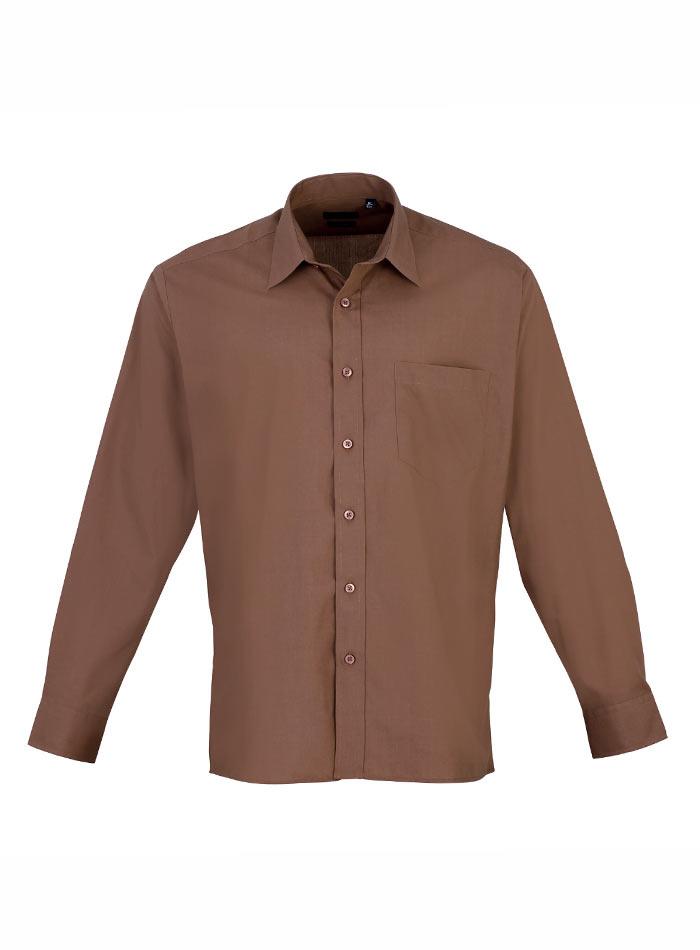 Pánská košile Premier - Hnědá 38