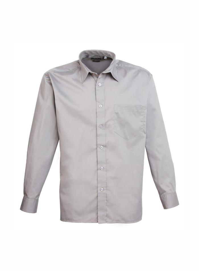 Pánská košile Premier - Stříbrná 38
