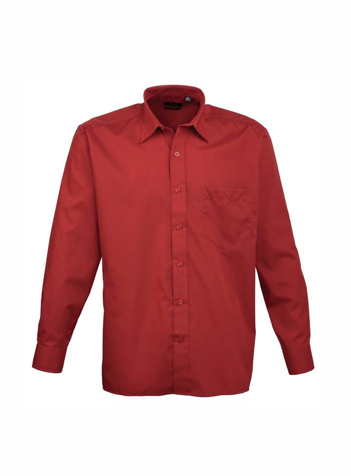Pánská košile Premier - bordó 38