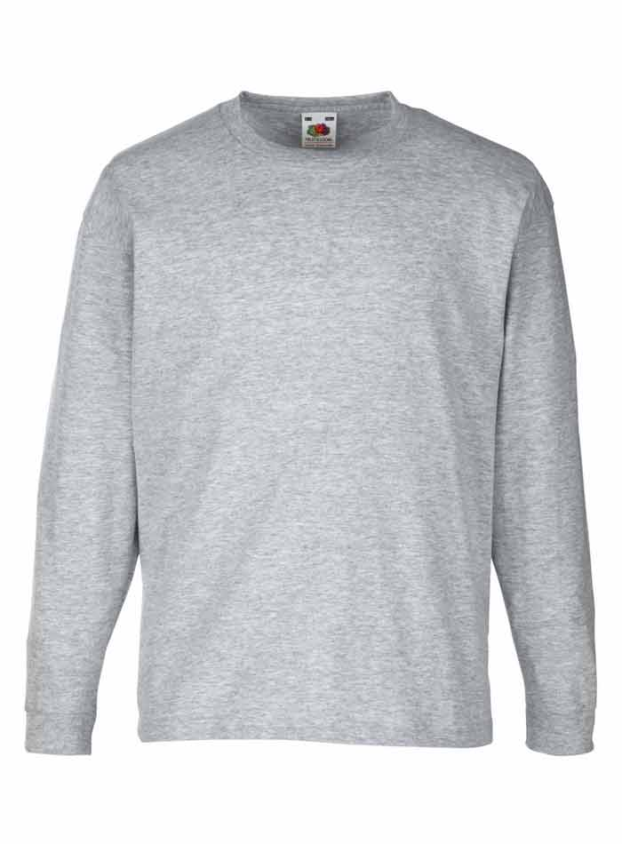 Tričko s dlouhým rukávem - Šedý melír 152 (12-13)