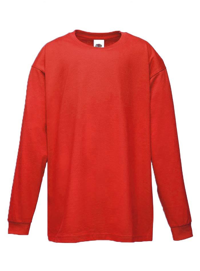 Tričko s dlouhým rukávem - Červená 152 (12-13)