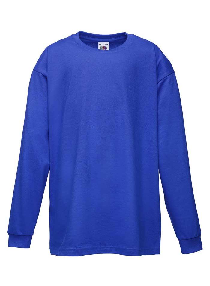 Tričko s dlouhým rukávem - Královská modrá 152 (12-13)
