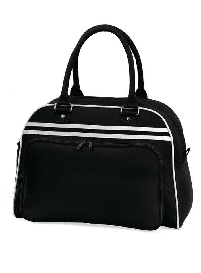 Prostorná retro taška - Černá a bílá univerzal