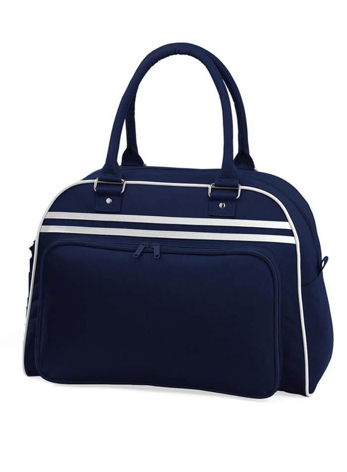 Prostorná retro taška - Modrá a bílá univerzal
