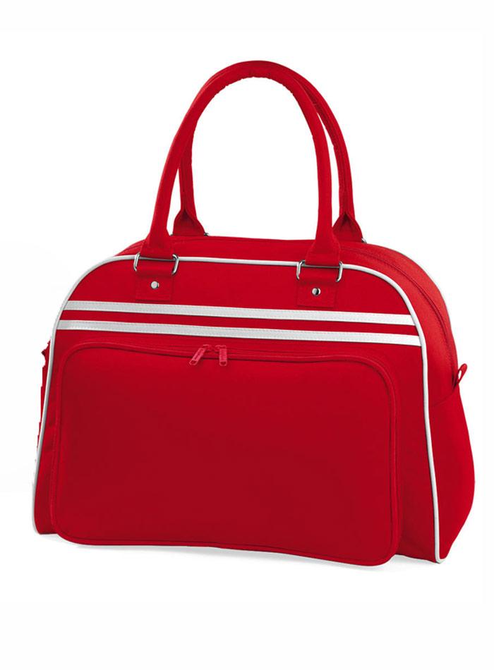 Prostorná retro taška - Červená a bílá univerzal