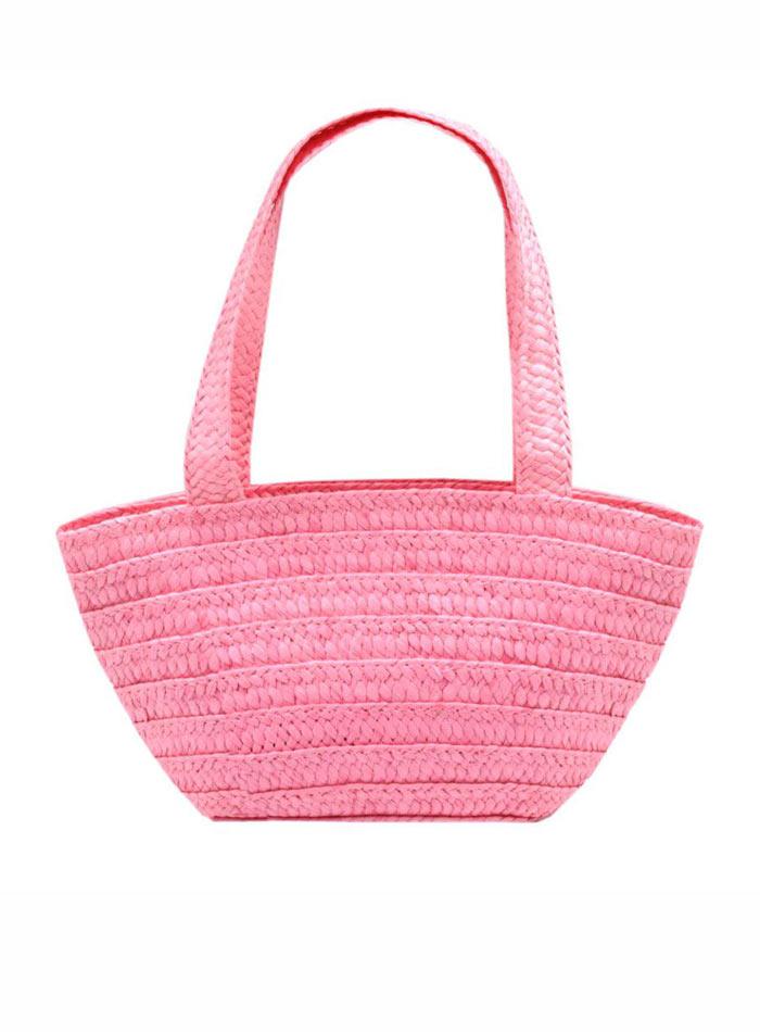 Malá proutěná kabelka - Růžová univerzal