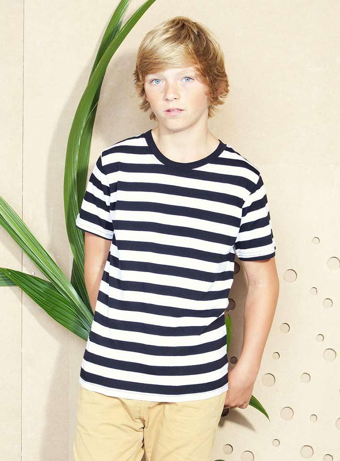 Hravé tričko s pruhy - bílá/černá 4-5