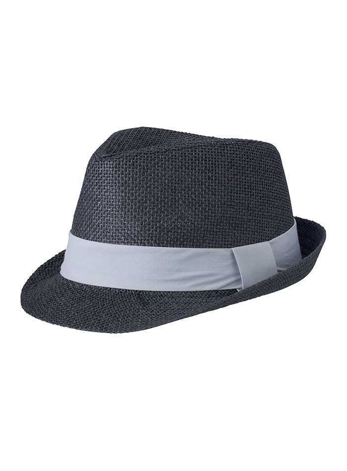 Barevný slamák unisex - Černá a šedá L/XL