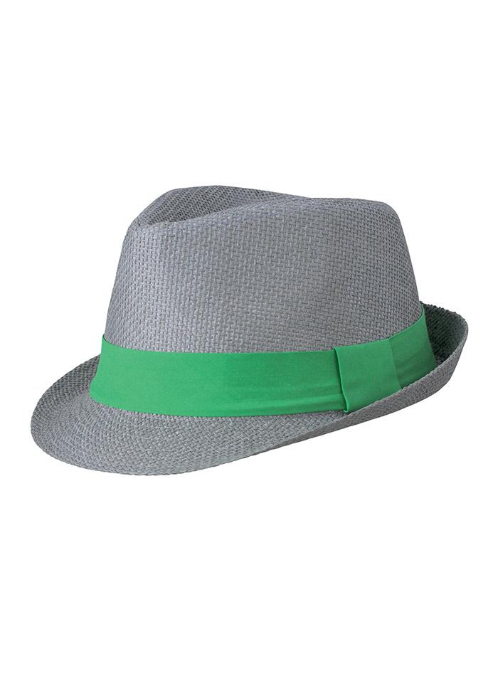 Barevný slamák unisex - Šedá a zelená S/M