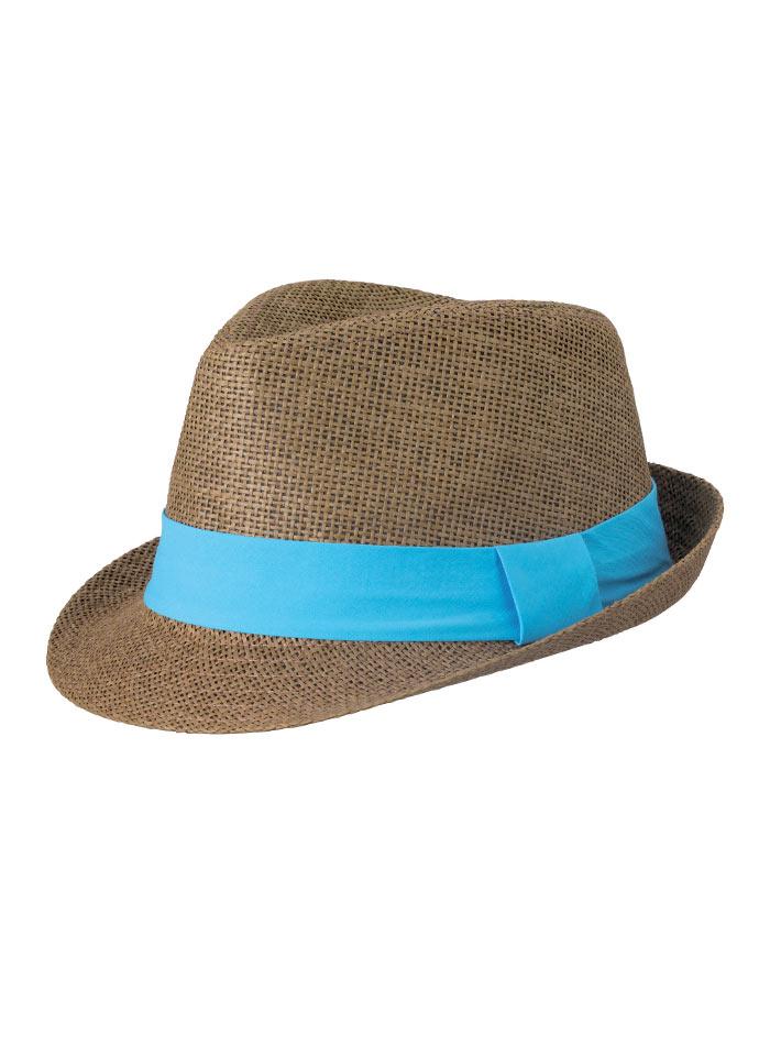 Barevný slamák unisex - Hnědá a modrá S/M