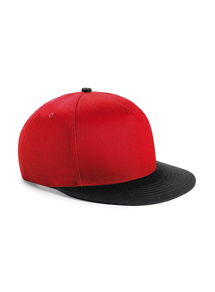 Dvoubarevná unisex kšiltovka - Červená a černá univerzal