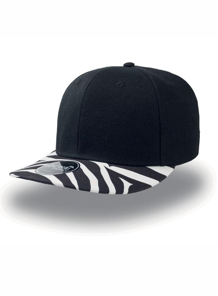 Rapperská kšiltovka Snapback - Černá a bílá univerzal