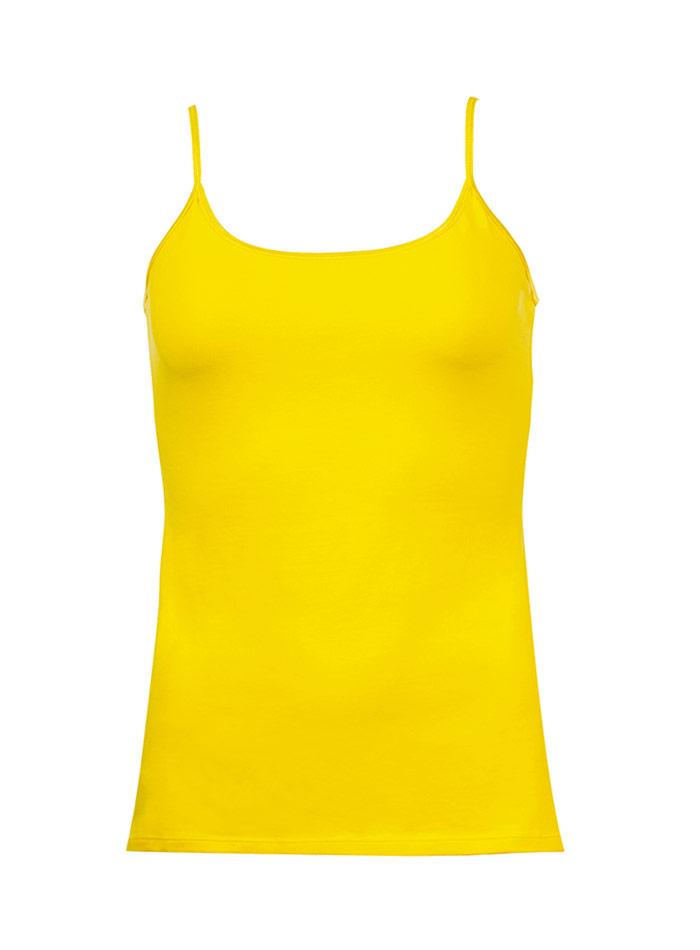 Tílko s tenkými ramínky - citrónová S