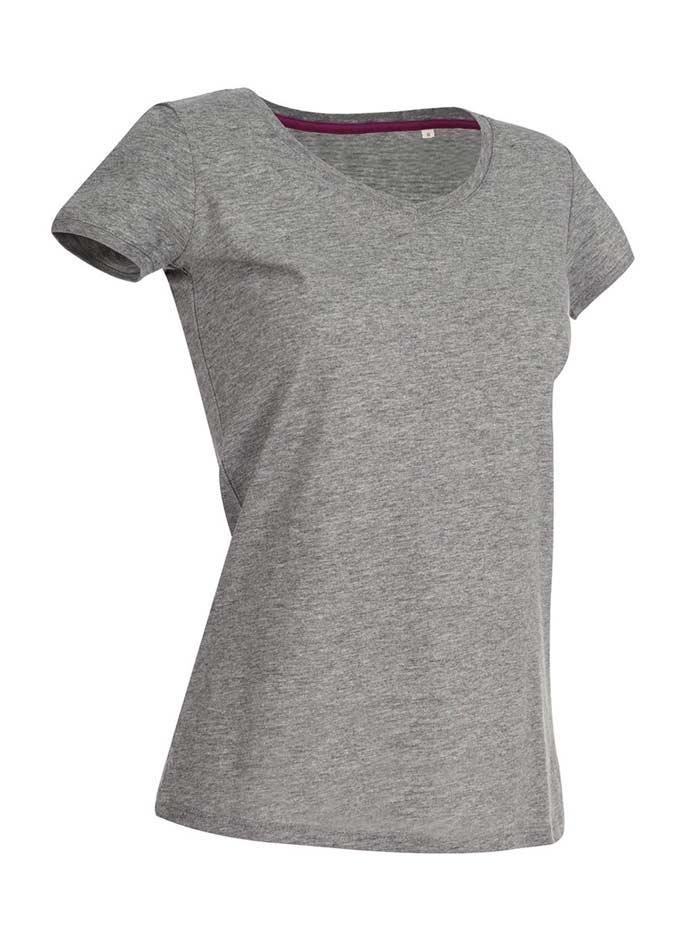 Tričko s kulatým výstřihem - Šedý melír S