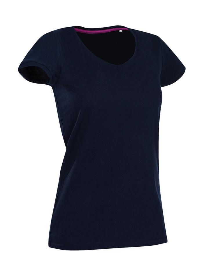 Tričko s kulatým výstřihem - tmavě modrá S