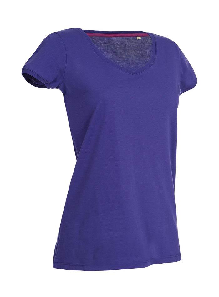 Tričko s kulatým výstřihem - Fialová S