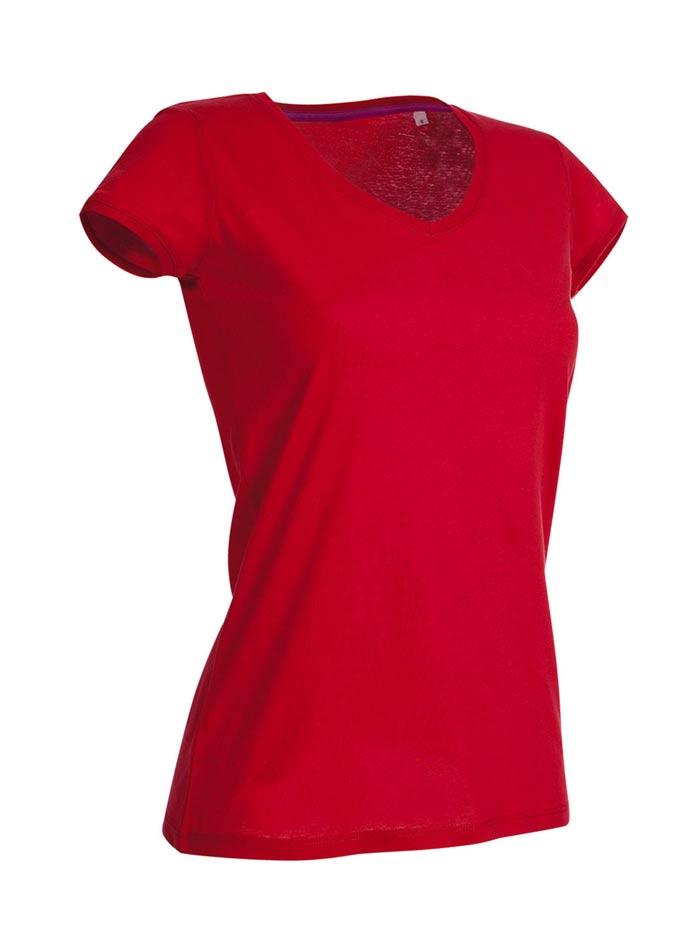 Tričko s kulatým výstřihem - Rudě červená S