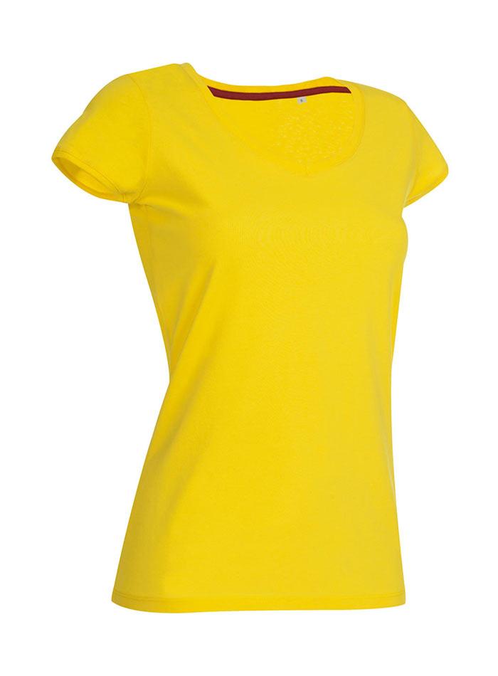 Tričko s kulatým výstřihem - Žlutá S