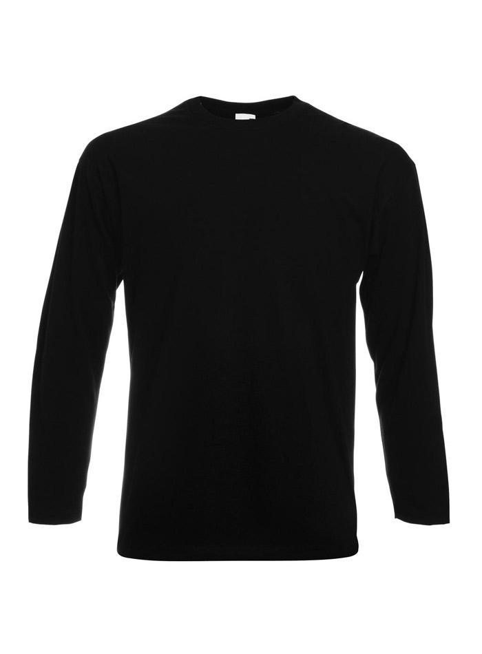 Tričko s dlouhým rukávem - černá S
